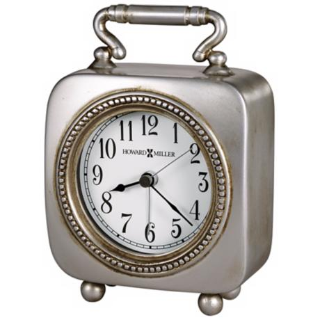 "Howard Miller Kegan 5 3/4"" High Alarm Clock"