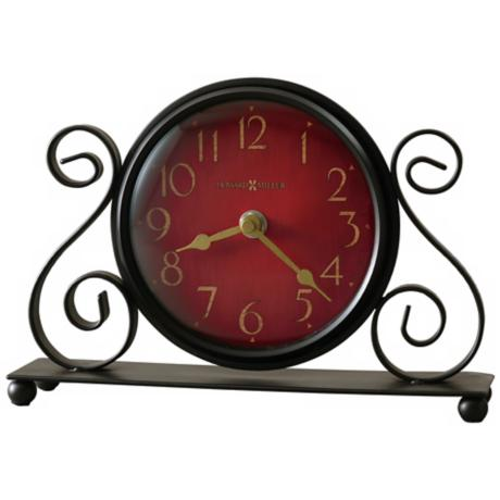 "Howard Miller Marisa 9 1/2"" Wide Table Clock"