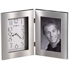 "Howard Miller Lewiston 11"" Wide Picture Frame Table Clock"