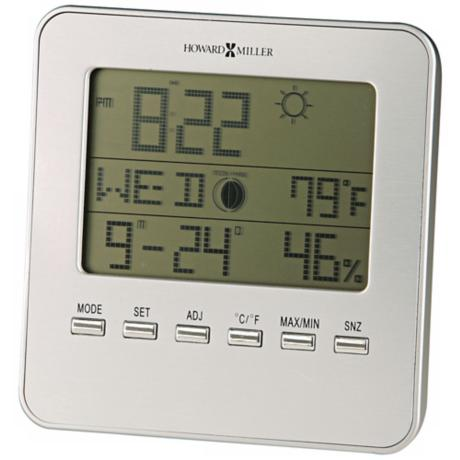 "Howard Miller Weather View 5"" High Alarm Clock"