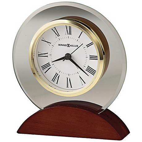 "Howard Miller Dana 6"" High Beveled Glass Tabletop Clock"