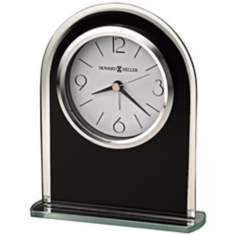 "Howard Miller Ebony Luster 6 1/4"" High Tabletop Alarm Clock"