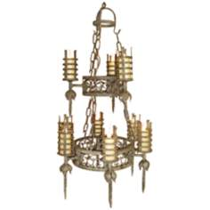 Laura Lee Lancelot Two-Tier Chandelier