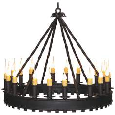 Laura Lee Princeton 18-Light Chandelier