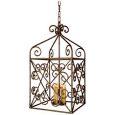 Laura Lee Malaga Lantern 4-Light Foyer Chandelier