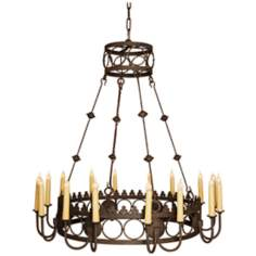 Laura Lee Bergamo 16-Light Large Candle Chandelier