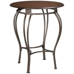 Hillsdale Montello Old Steel Bistro Pub Table