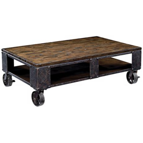 Pinebrook Rectangular Rolling Table