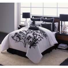 Central Park Embroidery Seven Piece Bedding Set