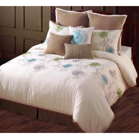 Spring Flower Seven Piece Bedding Set