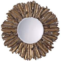 "Uttermost Elegans Round 43"" Wide Wall Mirror"