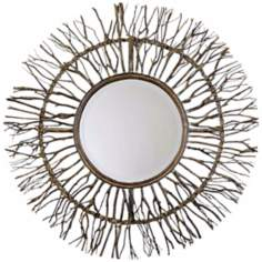 "Uttermost Birch Horizons 38"" Round Wall Mirror"