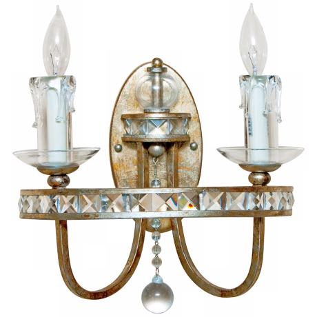 "Candice Olson Aristocrat 12"" High 2-Light Wall Sconce"