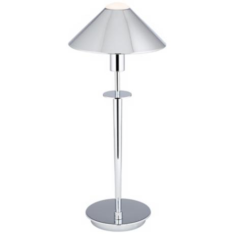 Holtkoetter Chrome Tented Metal Shade Desk Lamp