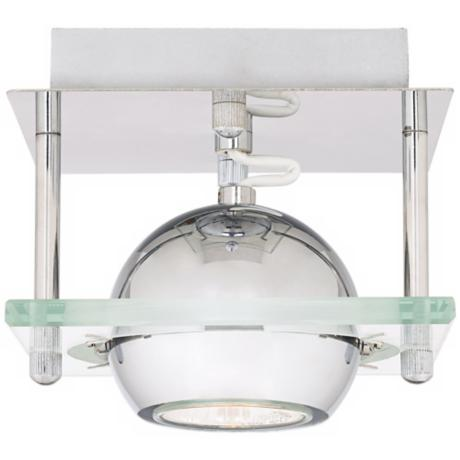 LED or Halogen Pro Track Orb Chrome and Glass Ceiling Light