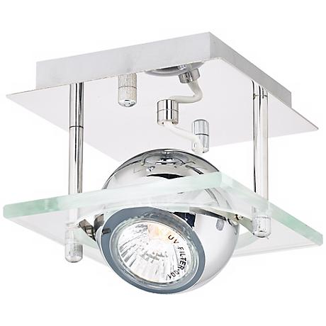 "Pro Track® Orb Chrome and Glass 5"" Wide Ceiling Light"
