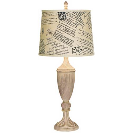 Kathy Ireland Grand French Literature Table Lamp