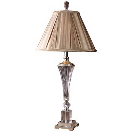 Uttermost Celia Crystal Fluted Glass Table Lamp