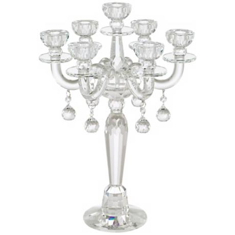 Clear Crystal 7-Candle Taper Candle Holder