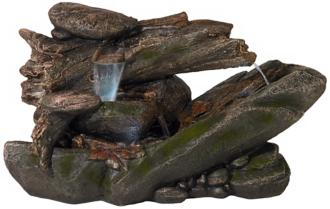 "Tree Trunk and Rocks 22"" High LED Fountain (R6067) R6067"