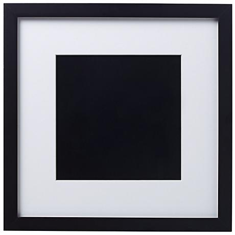 14 x 14 Black Finish With White Matting Wall Art Frame