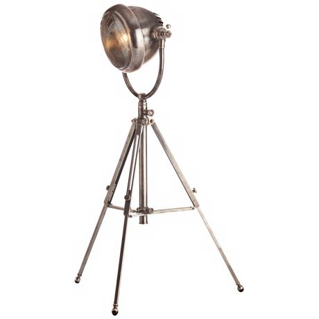 Arteriors Home Kamaro Vintage Silver Tripod Table Lamp