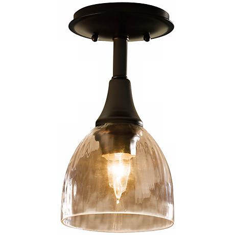 Hubbardton Forge Water Glass Semiflush Ceiling Light