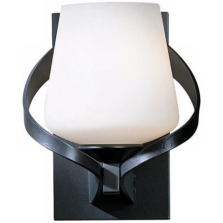 "Hubbardton Forge Ribbon Opal 8"" High Wall Sconce"