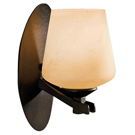"Hubbardton Forge Ribbon Stone Glass 9"" High Wall Sconce"