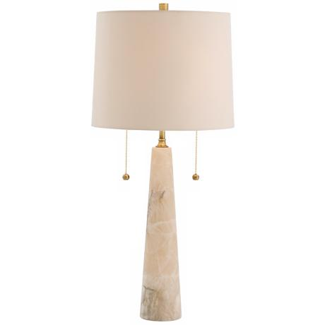 Arteirors Home Sidney Snow Marble and Brass Table Lamp