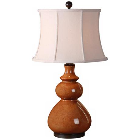 Uttermost Belfast Crackled Red Porcelain Table Lamp