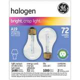GE 72 Watt 2-Pack a-19 Clear Halogen Light Bulbs