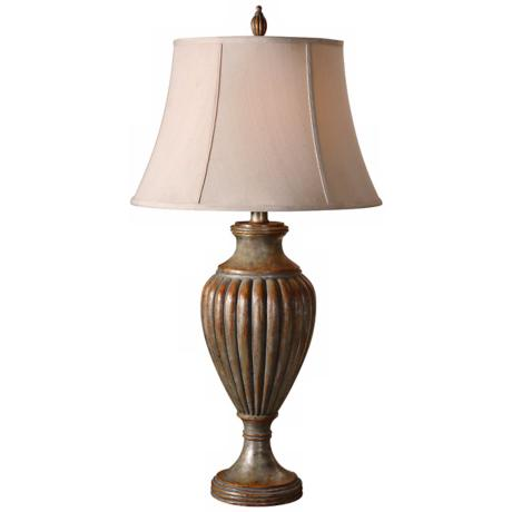Uttermost Toulon Silver Leaf & Pumpkin Spice Table Lamp