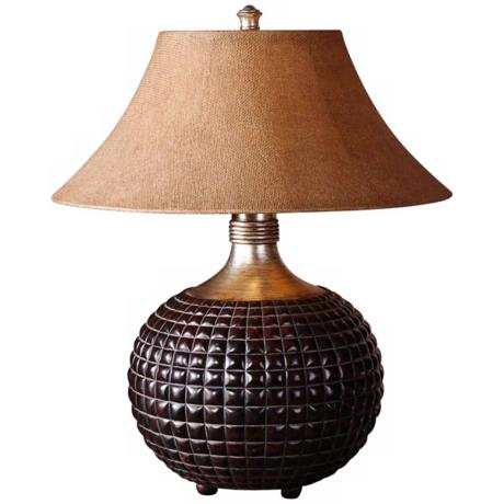 Uttermost Fremont Dark Walnut Textured Table Lamp