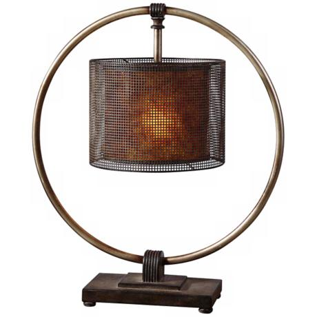 Uttermost Dalou Dark Bronze Table Lamp