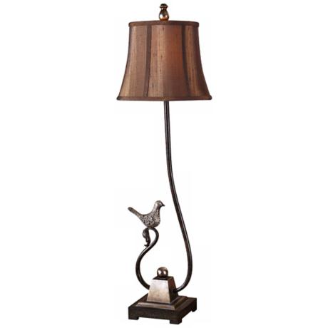 Uttermost Peaceful Dark Bronze-Silver Buffet Table Lamp