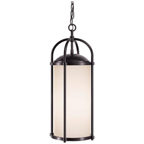 "Murray Feiss Dakota Espresso 23"" High Outdoor Hanging Light"