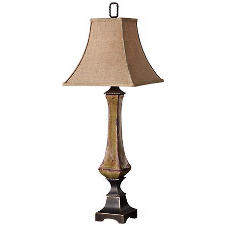 Uttermost Perano Distressed Porcelain Buffet Table Lamp