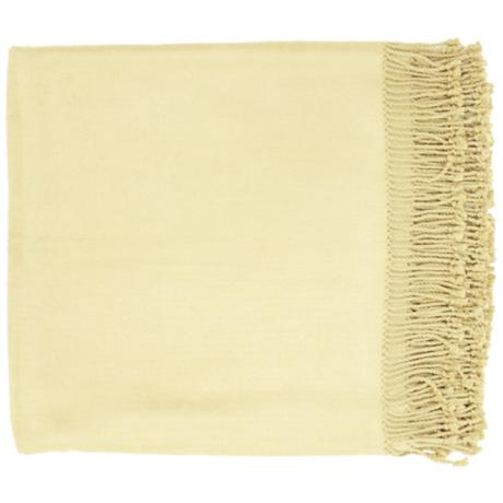 Surya Tian Tian Tan Throw Blanket