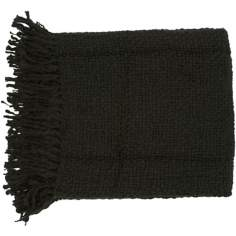 Surya Tobias Black Throw Blanket