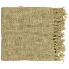 Surya Tobias Avocado Throw Blanket