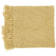 Surya Tobias Tan Throw Blanket