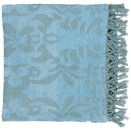Surya Tristen Aqua Throw Blanket