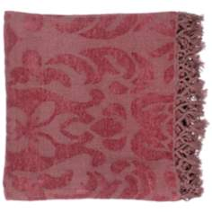 Surya Tristen Red Throw Blanket