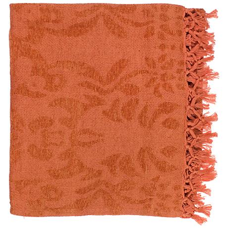 Surya Tristen Orange Spice Throw Blanket