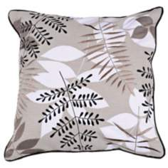 "Surya Taupe Branches 18"" Square Accent Pillow"