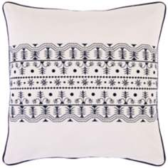 "Surya White Gardens 18"" Square Accent Pillow"