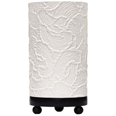 "White on White 11"" High Accent Lamp"