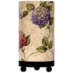 "Hydrangeas 11"" High Accent Lamp"