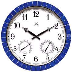 "Clarion Blue 17 1/2"" Wide Round Wall Clock"